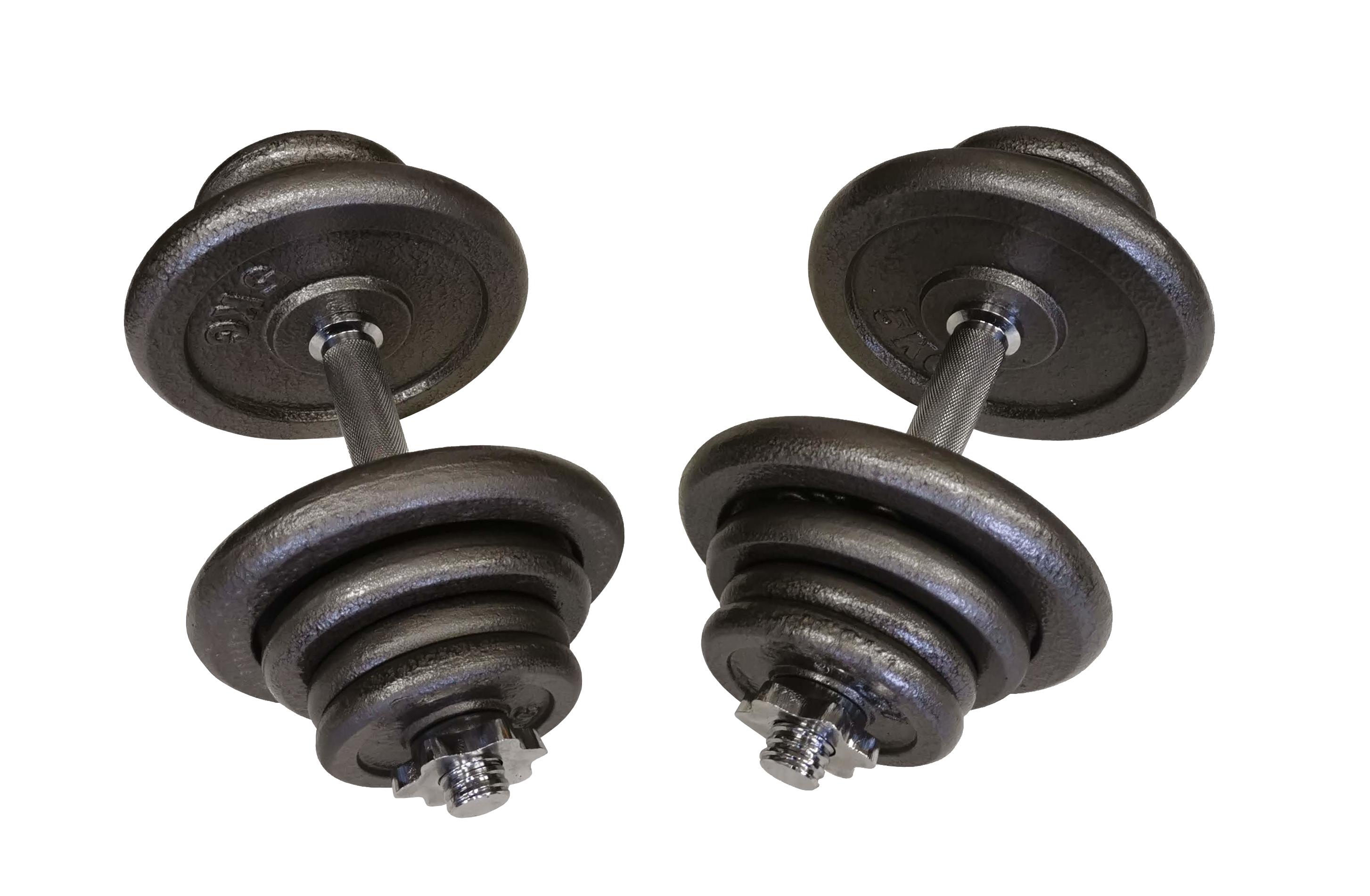 Jednoruční nakládací činkový set - 2 x 22,5 kg