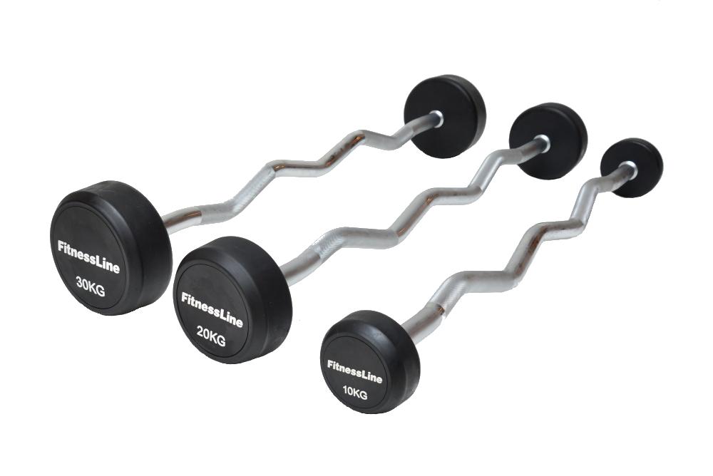 Bicepsová činka Fitness - 15 kg
