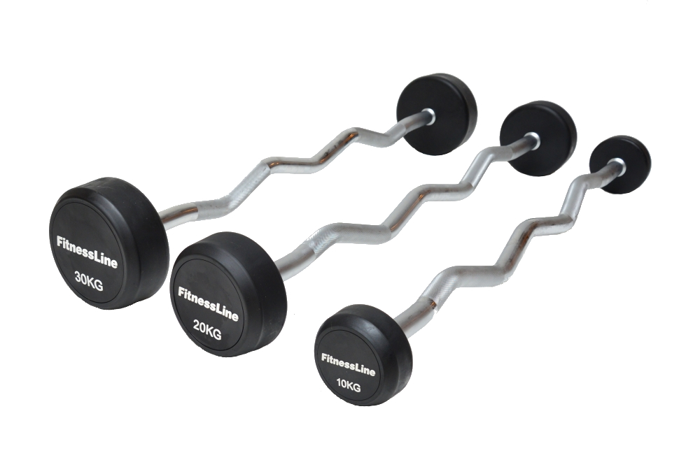 Bicepsová činka Fitness - 45 kg