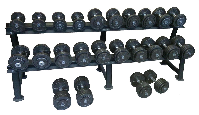 Sada jednoručních činek 5-40 kg - 15 párů, stoupání po 2,5 kg