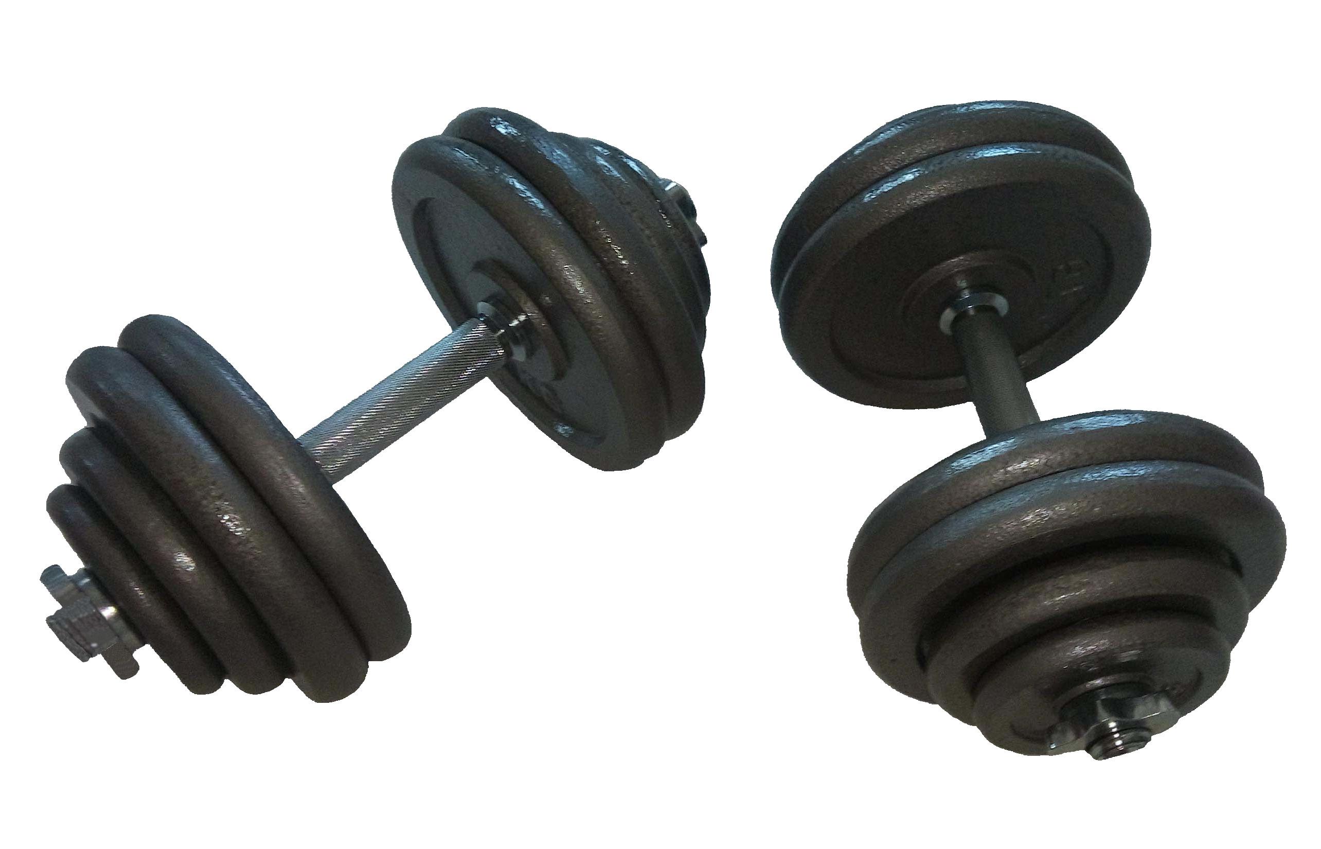 Jednoruční činkový set - 2 x 30 kg