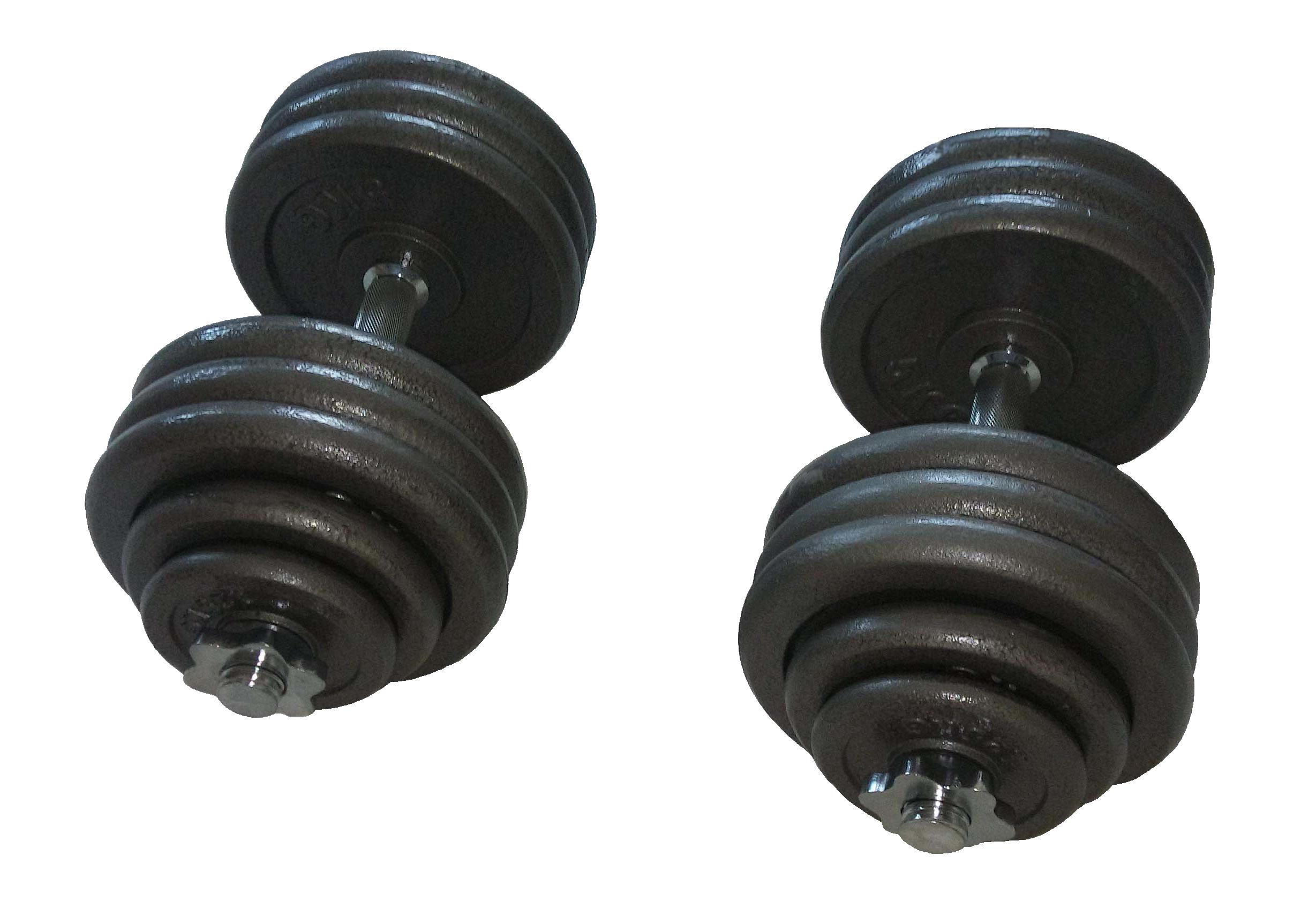 Jednoruční činkový set - 2 x 35 kg